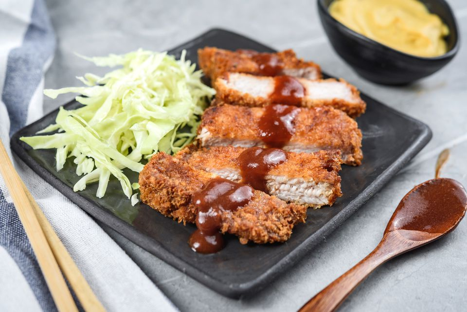 Tonkatsu recipe Japanese breaded and deep fried pork