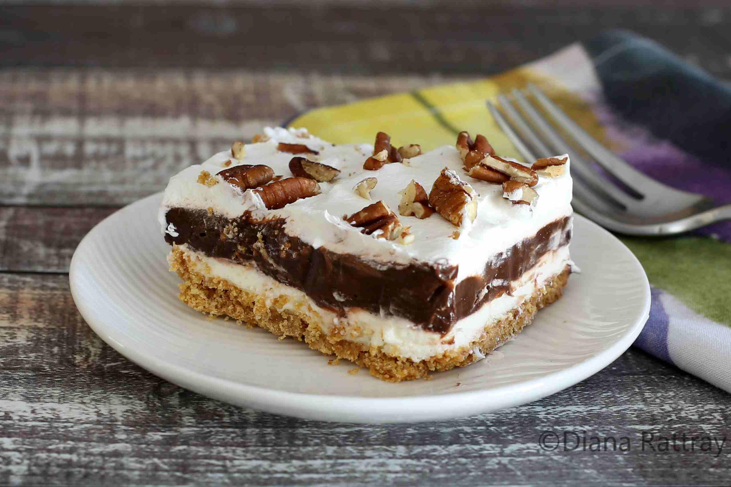 Chocolate Delight Layered Pudding Dessert