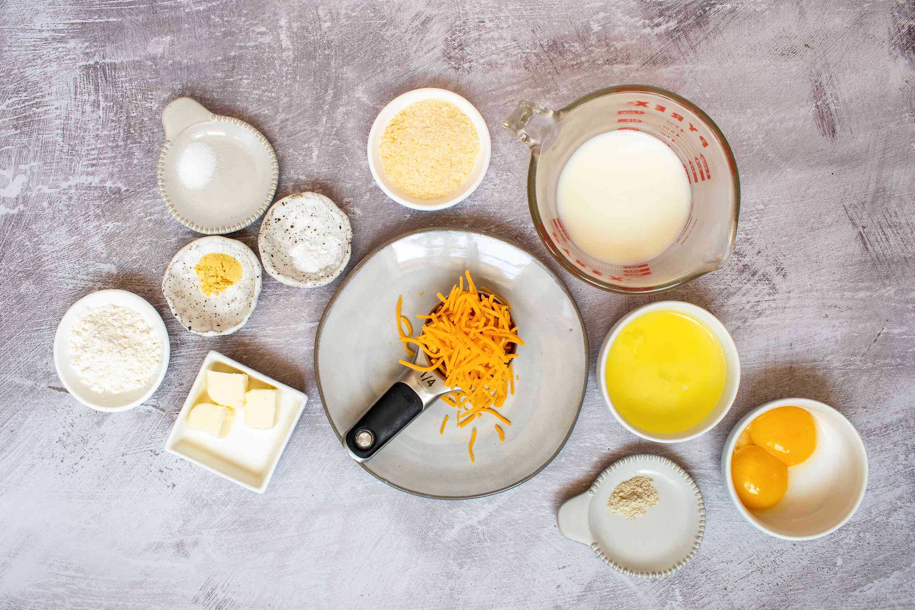 Ingredients for cheese souffle
