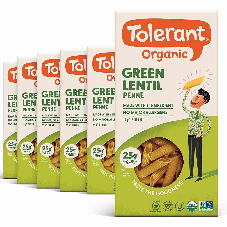 Tolerant Organic Green Lentil Penne