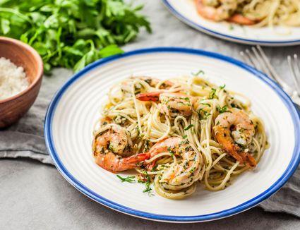 Easy Low-Calorie Shrimp Scampi