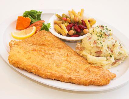 Oven-fried haddock