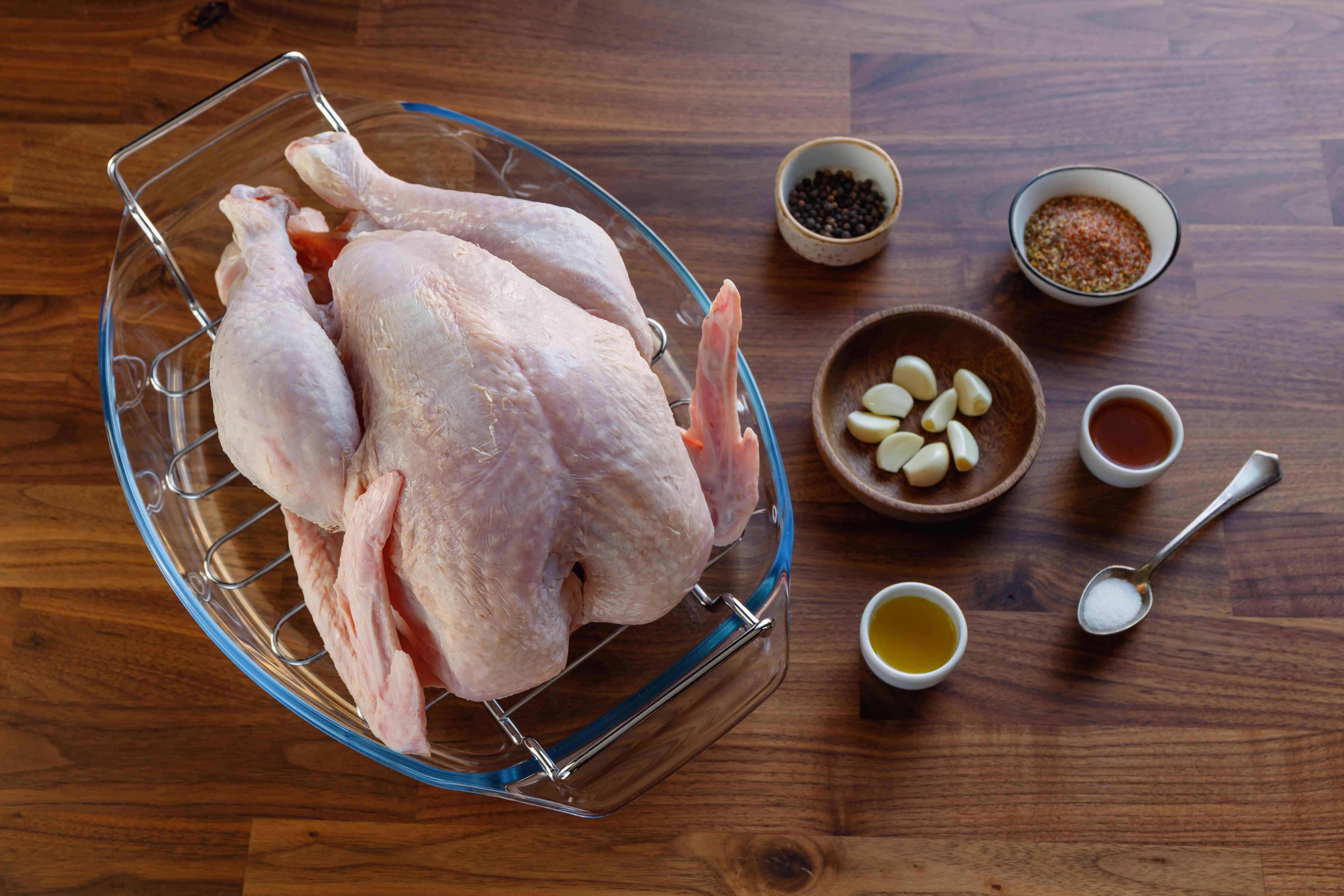 Ingredients for pavochon roasted turkey