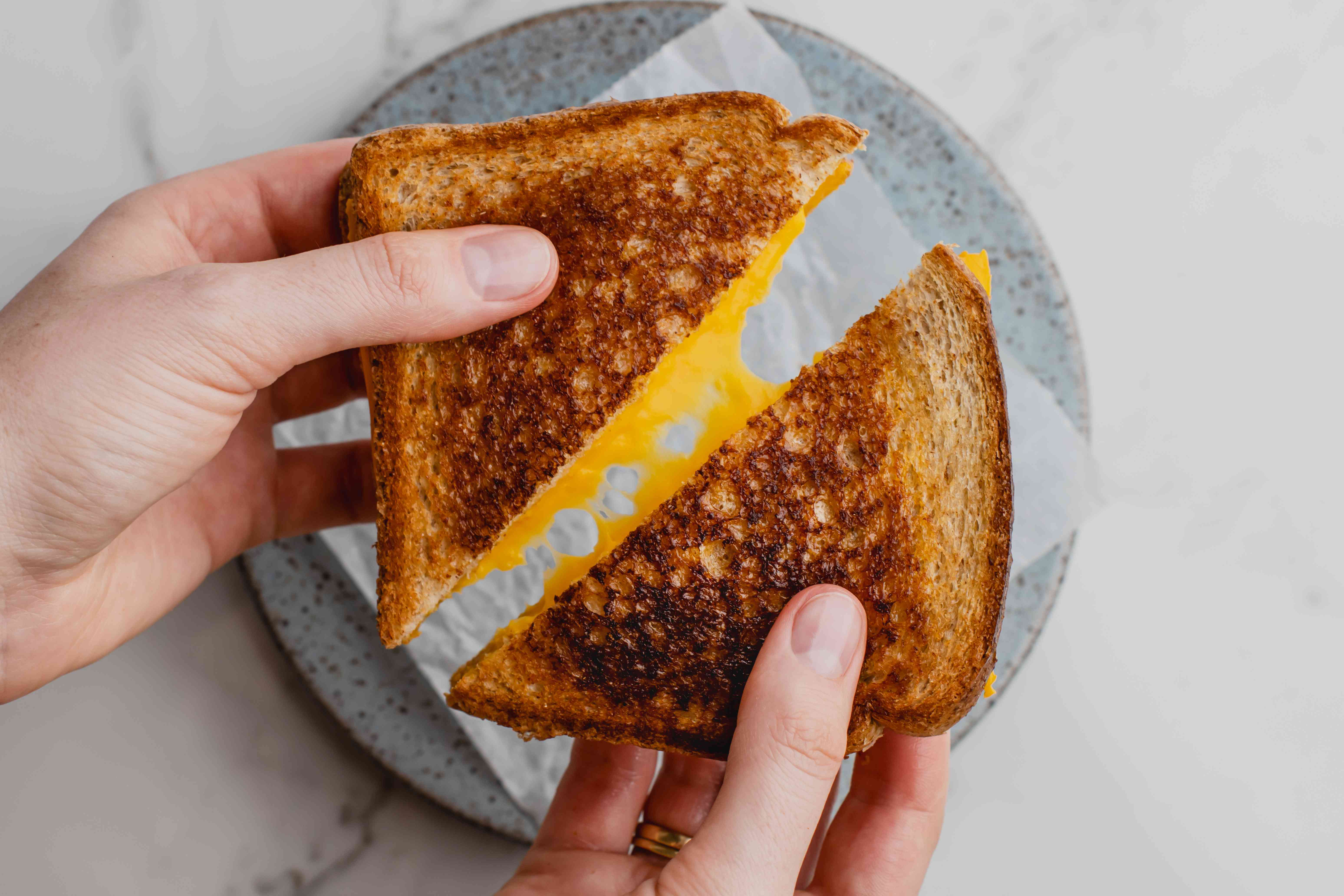 Serve grilled cheese