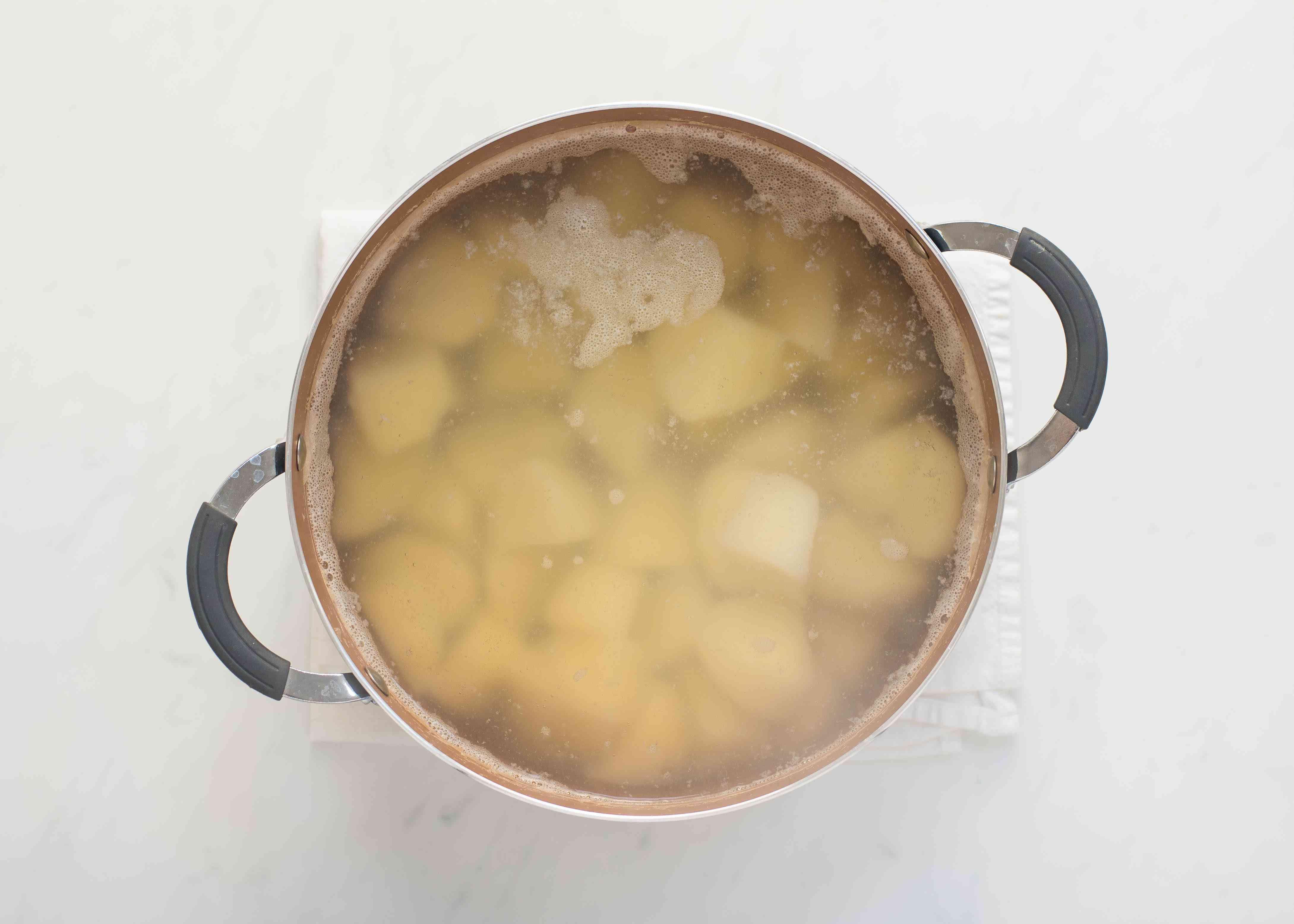 Slow cook potatoes