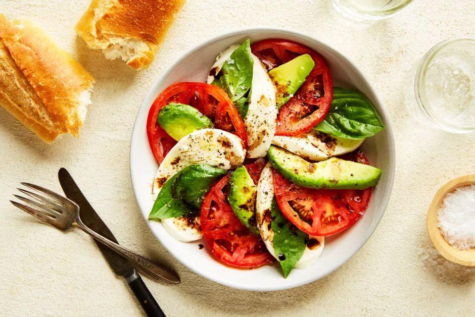Avocado, Tomato, and Mozzarella Caprese Salad