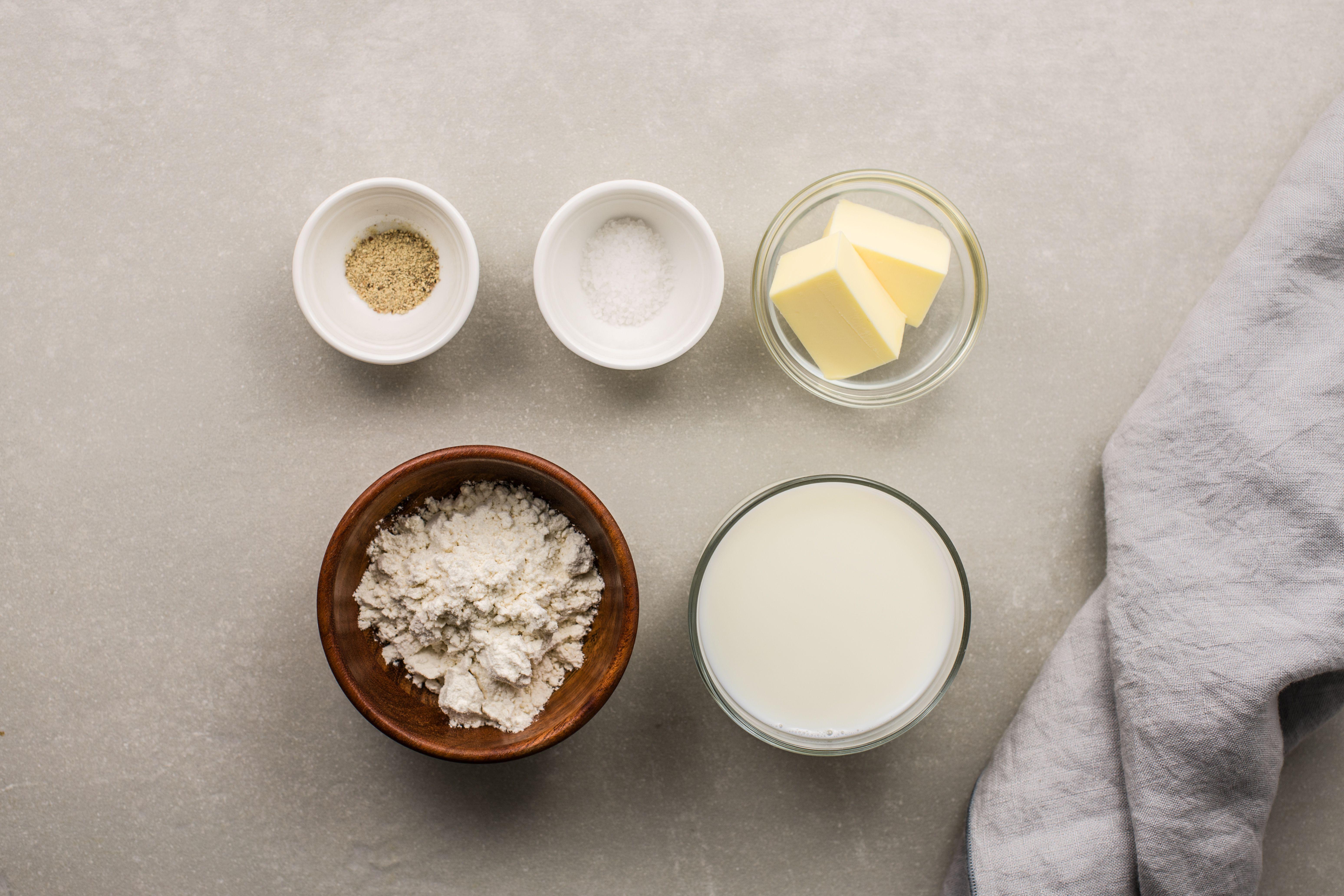 Basic White Sauce ingredients