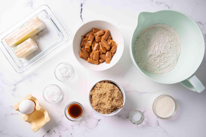 Salted caramel cookies ingredients