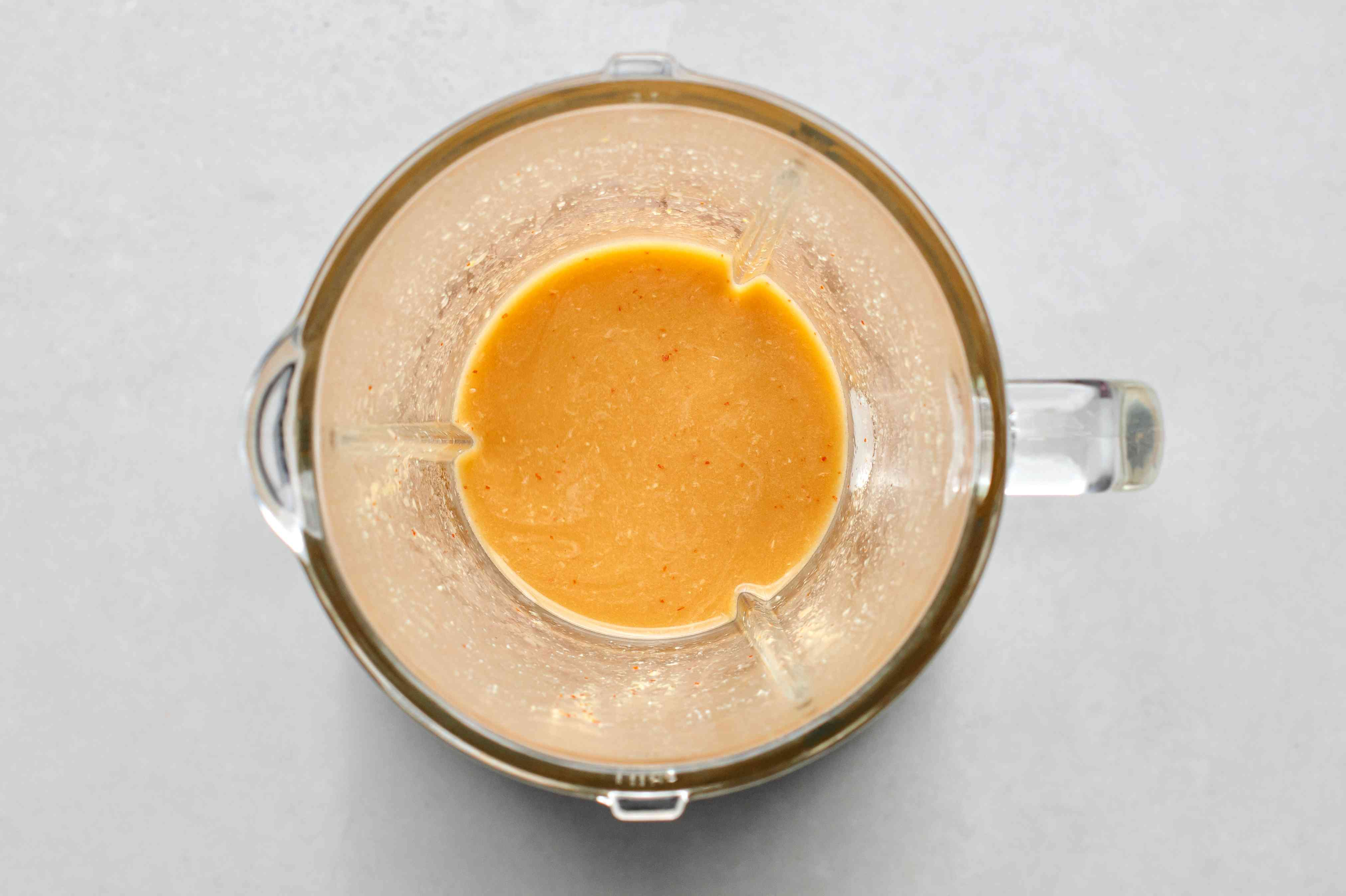 Low Calorie Asian Salad Dressing in a blender
