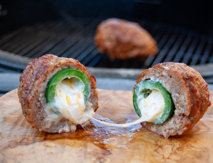 sausage wrapped jalapeno stuffed with cream cheese