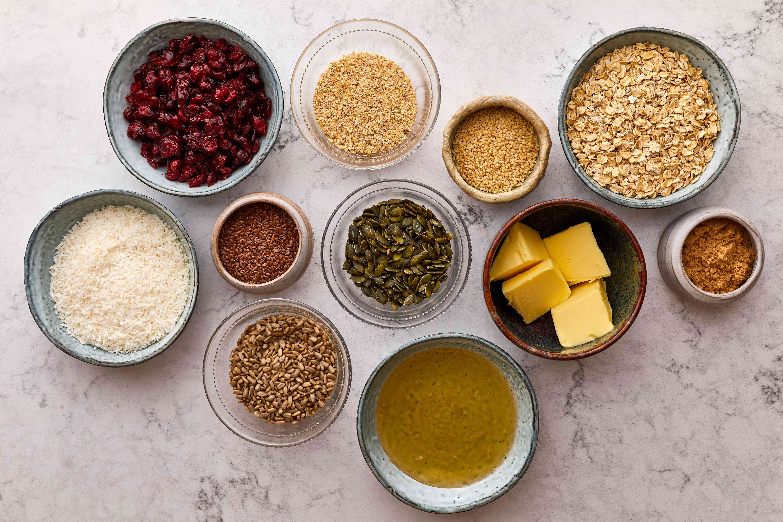 Homemade Muesli Bars ingredients
