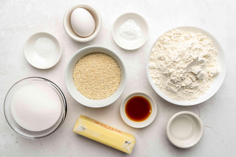 Toasted Sesame Seed Cookies ingredients