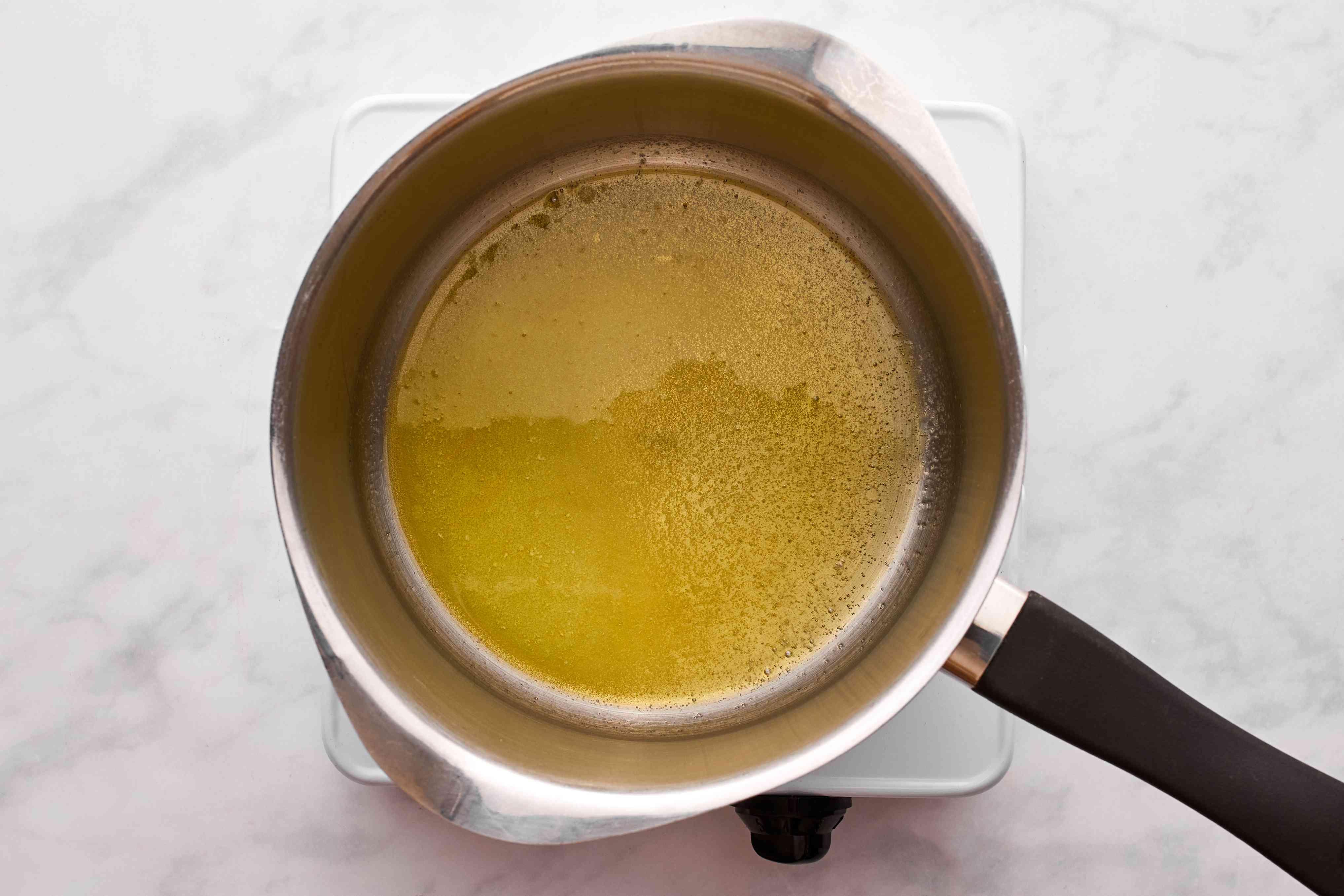 In a medium saucepan, melt butter