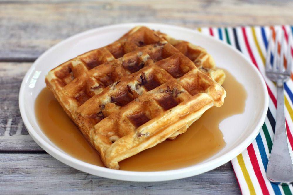 Fluffy Pecan Waffles