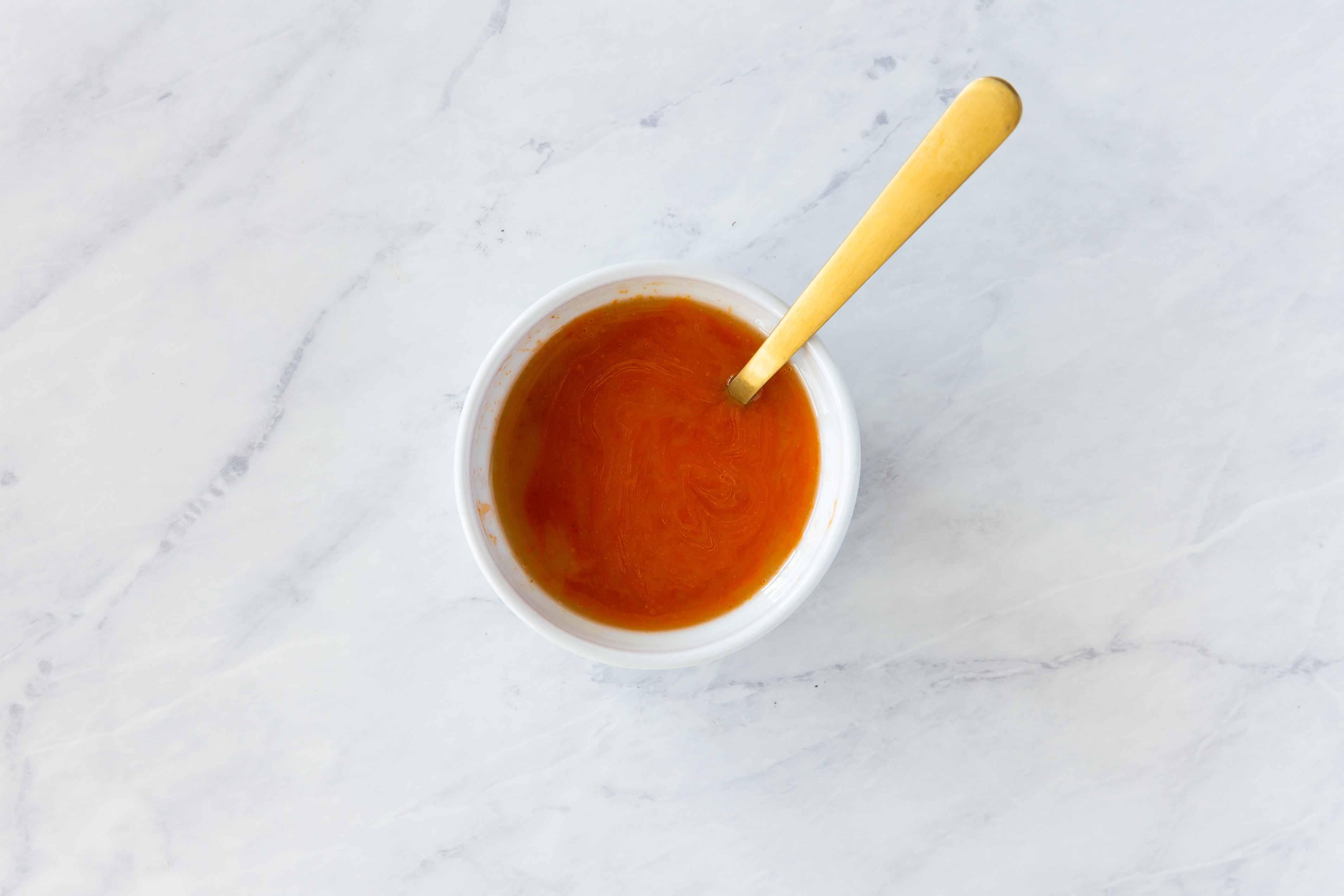 Buffalo sauce in bowl