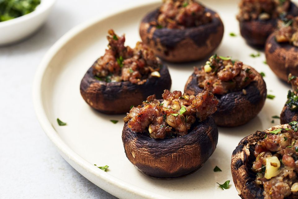 Meat Stuffed Mushrooms With Italian Sausage
