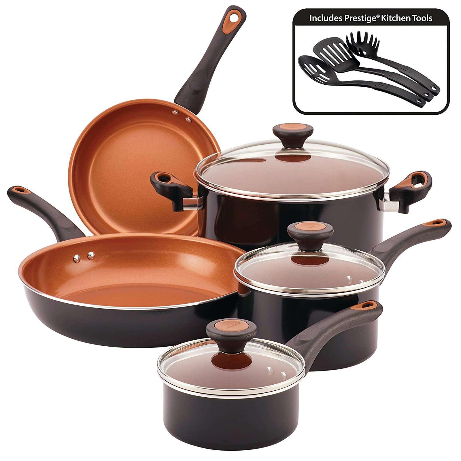Farberware Glide Dishwasher-Safe Nonstick Cookware Set