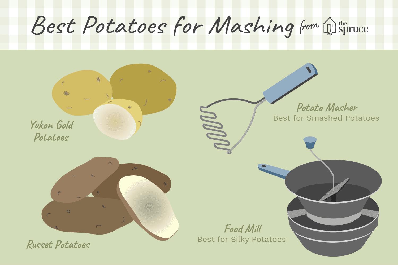 best potatoes for mashing illustration