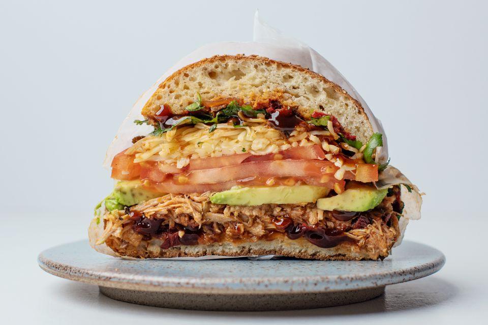 Cemita, un sándwich de puerco mexicano al estilo de puerco
