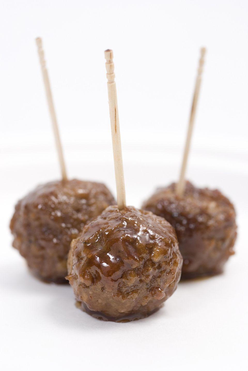 Crockpot Turkey and Stuffing Meatballs