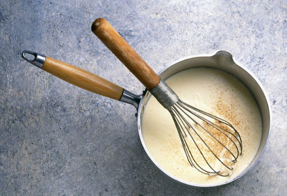 Salsa de bechamel cremosa sin lácteos