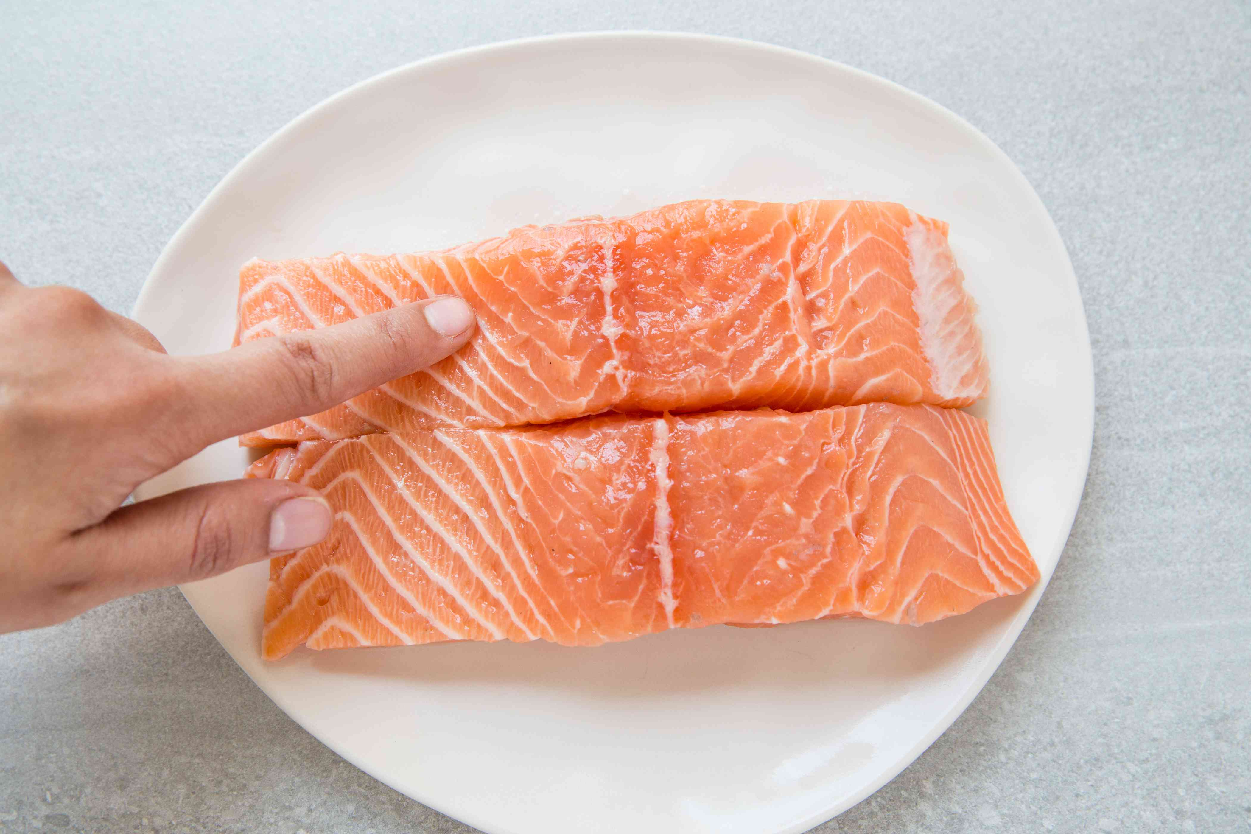 check salmon for pin bones