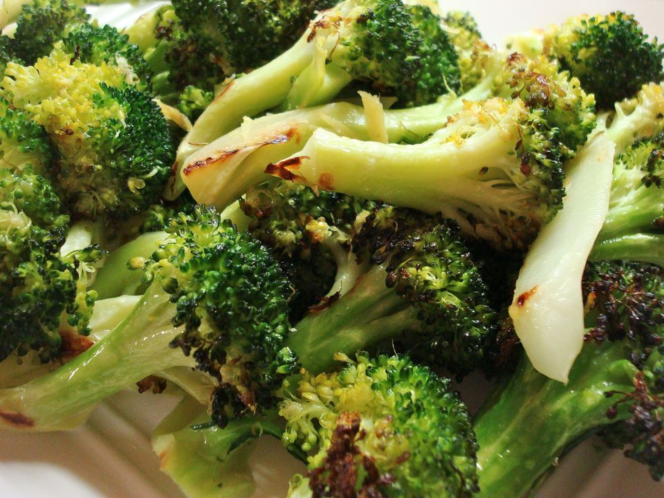 Ginger roasted broccoli