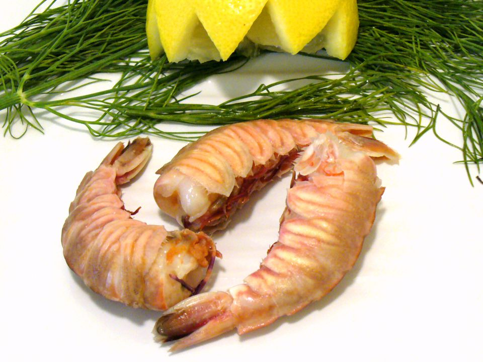 rock shrimp with garnish