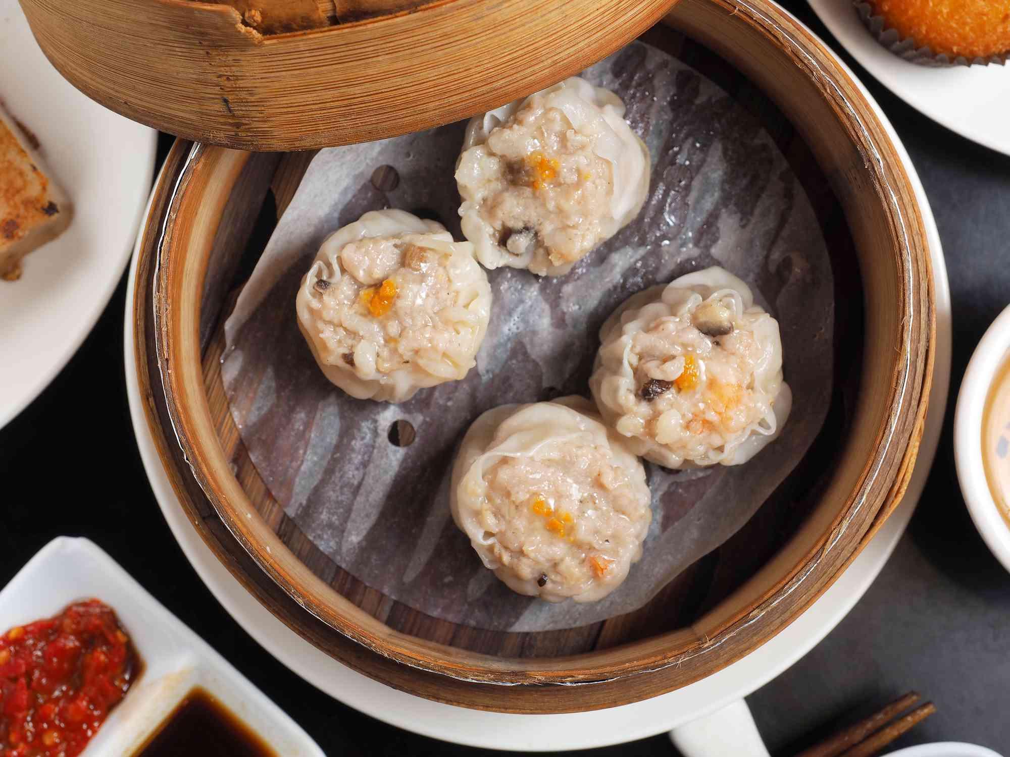 Steamed seafood shao mai