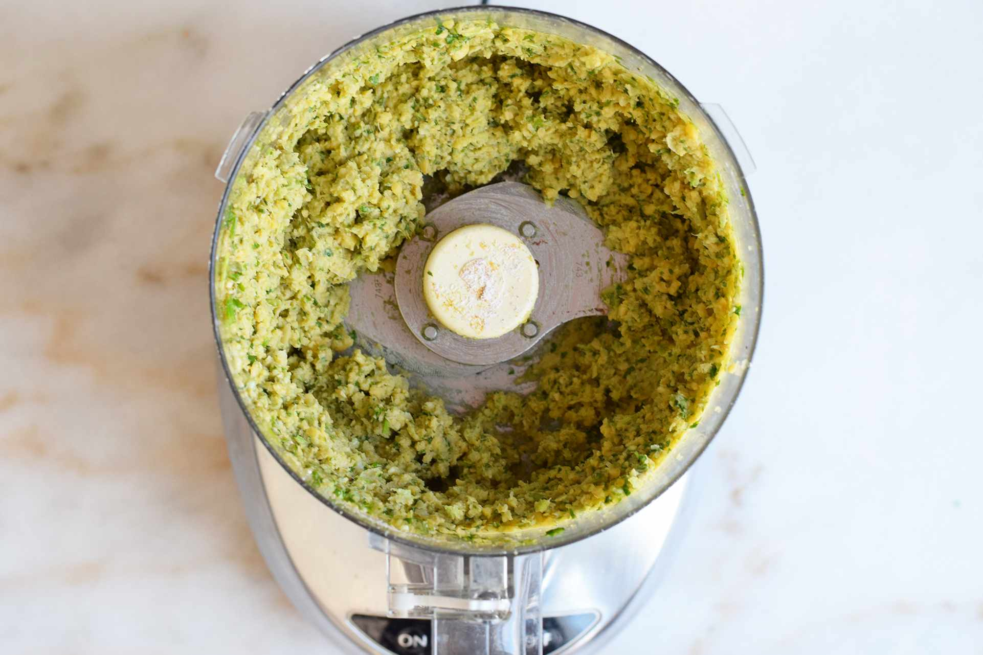 falafel mix in a food processor