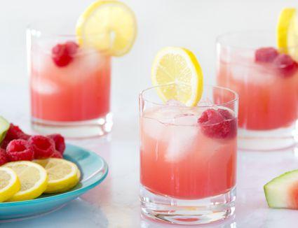 Watermelon Punch With Raspberry Lemonade