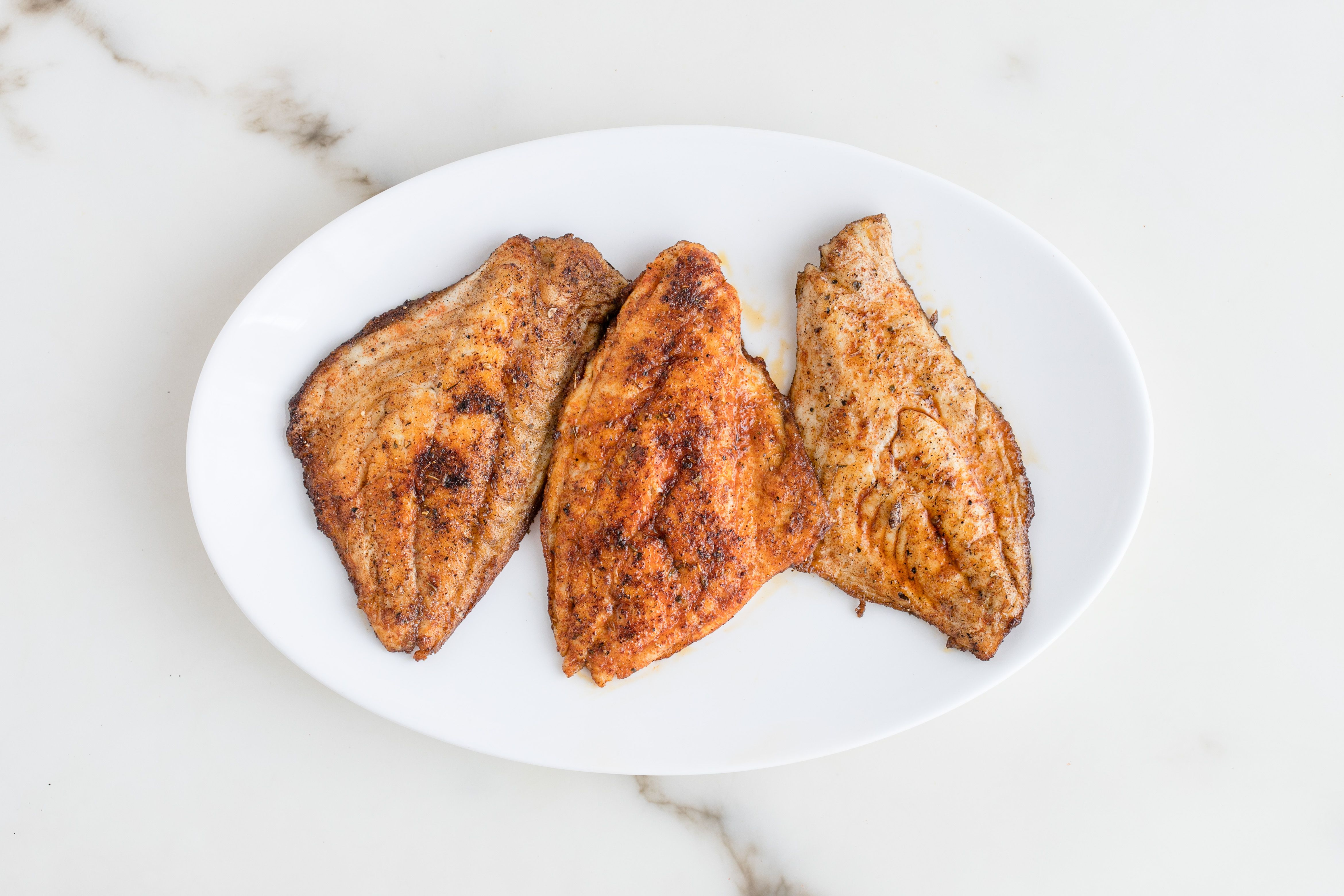 Remove fish from pan