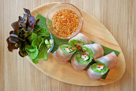 Thai Vegetarian Or Shrimp Spring Rolls Recipe