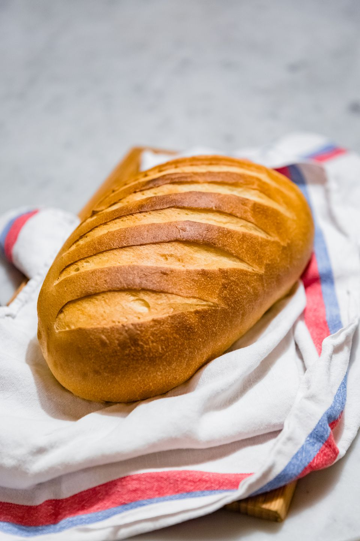 fresh loaf of bread