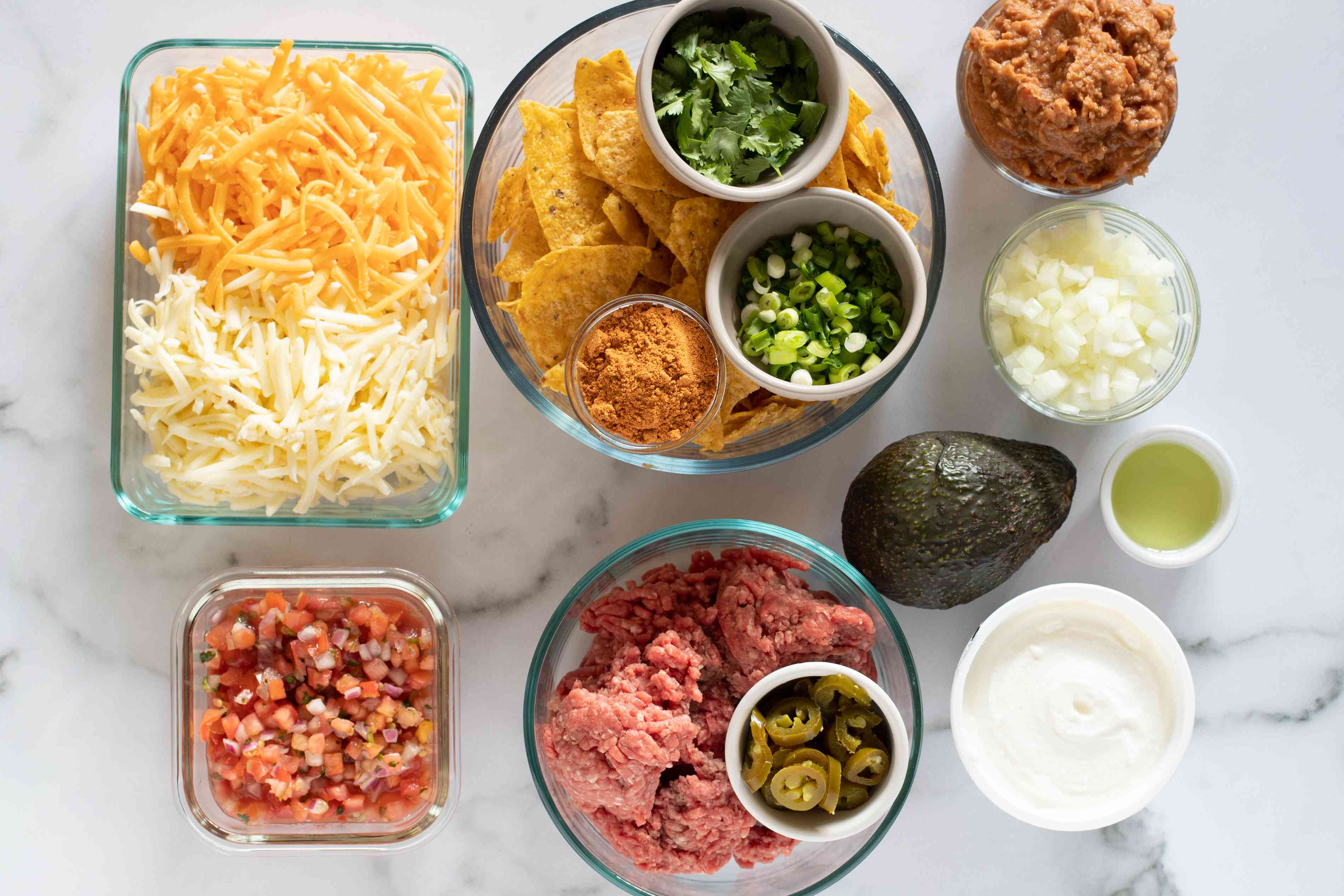 ingredients for easy nachos
