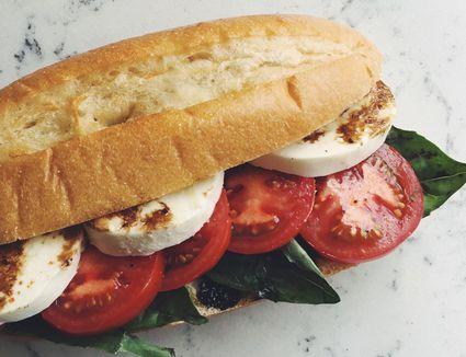 Caprese sandwich