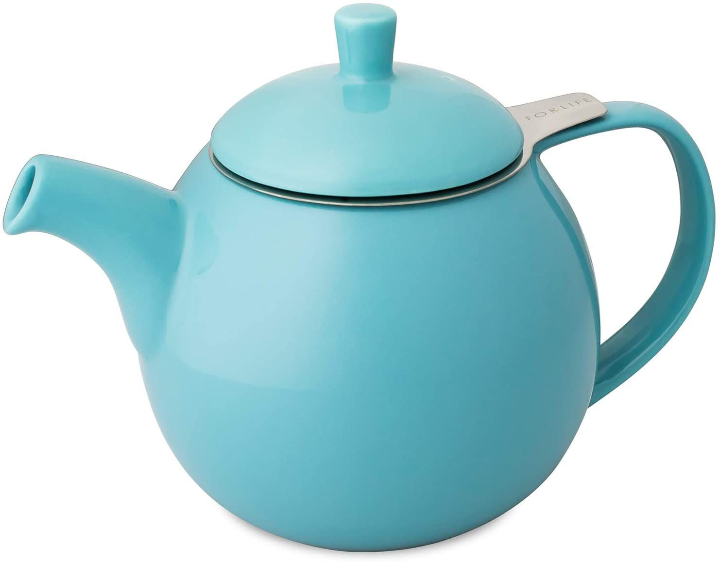 FORLIFE Curve Teapot with Infuser, 24-Ounce