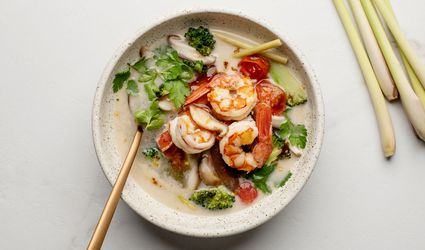 Lemongrass and shrimp soup