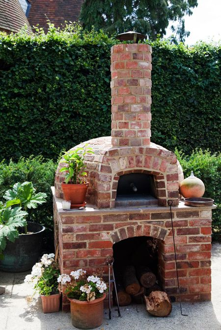 A Brick Wood Fired Oven Pizza