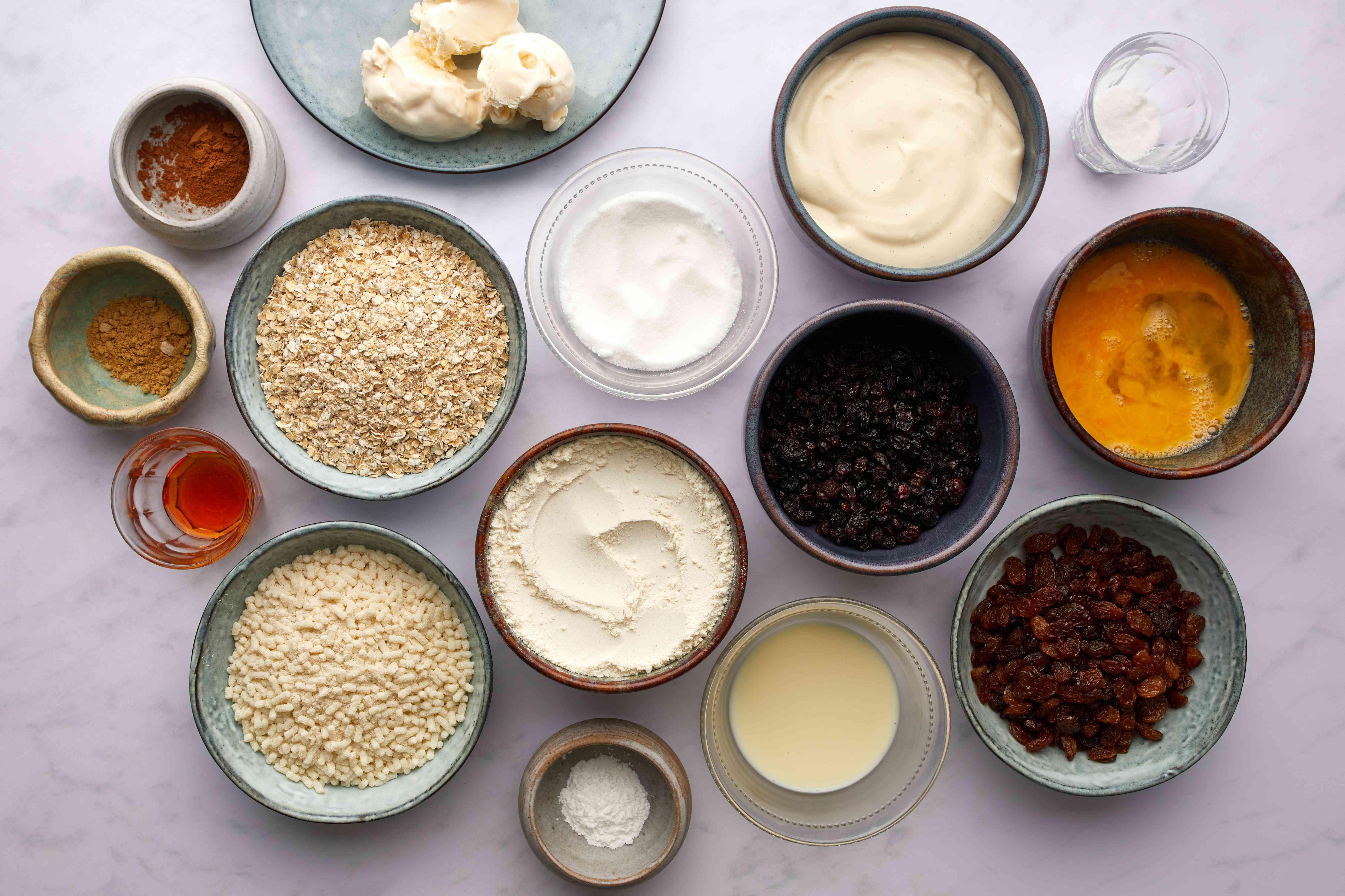 Traditional Scottish Clootie Dumpling ingredients