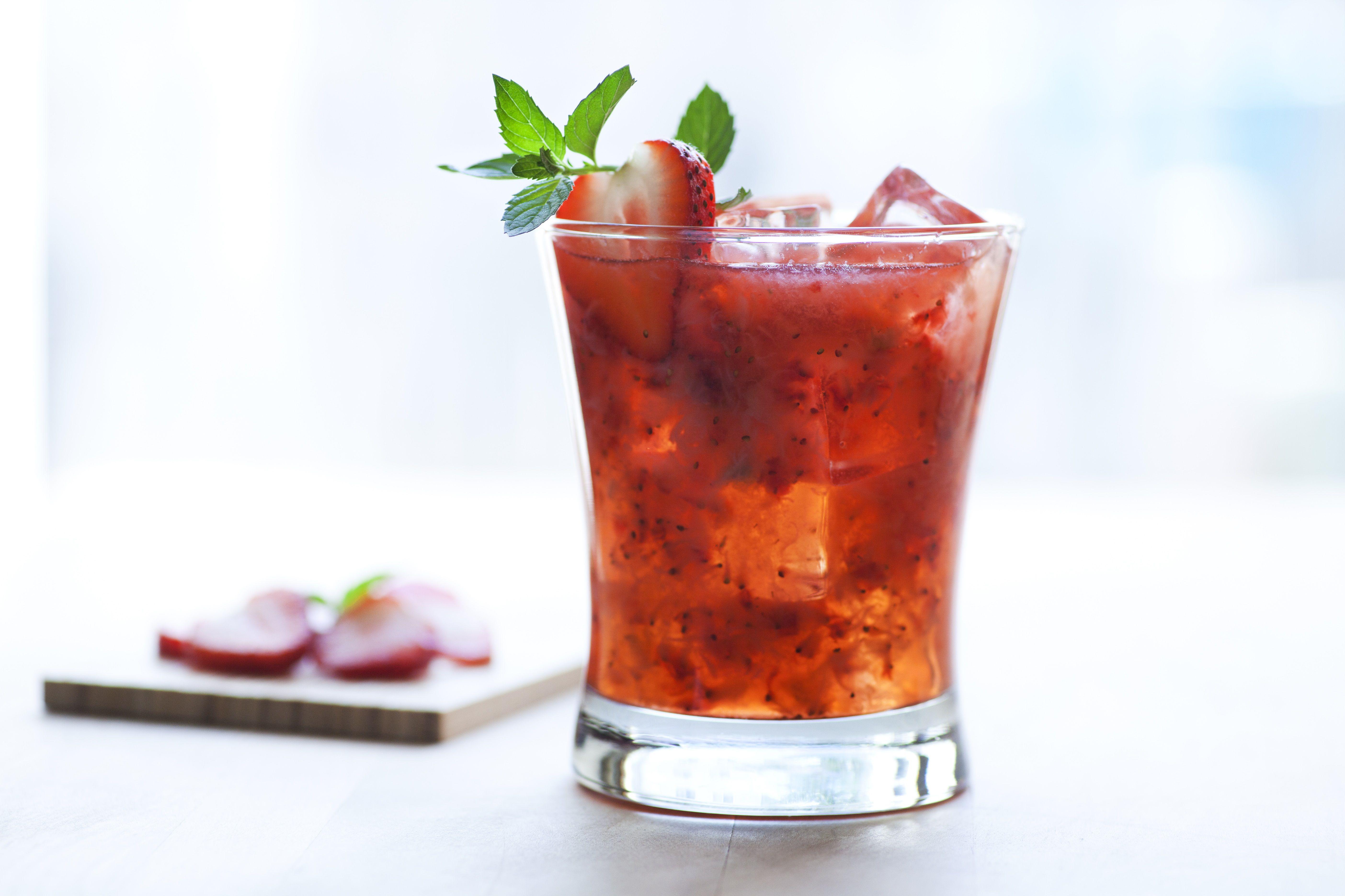 Kentucky Kiss Strawberry Cocktail