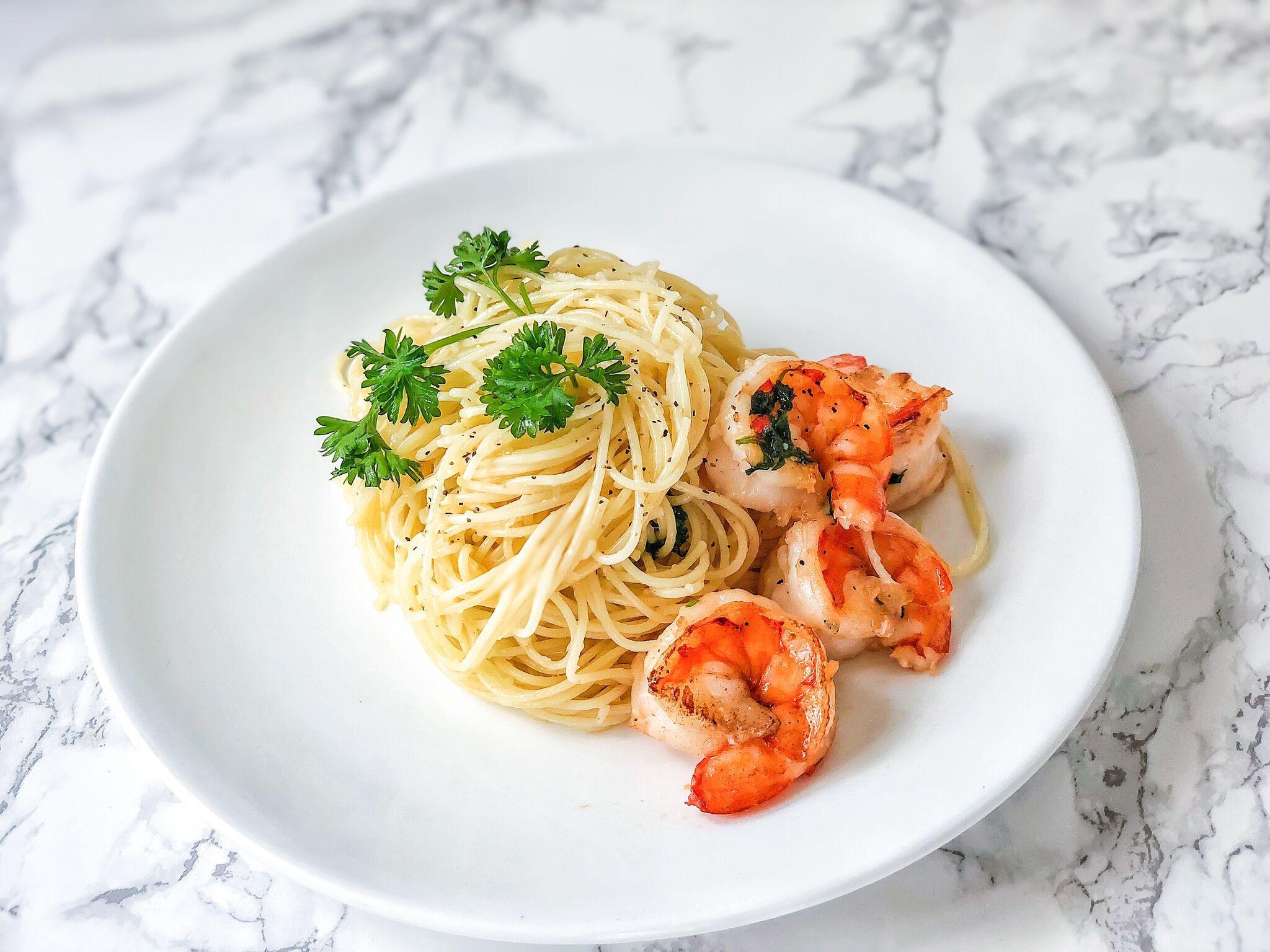 Easy Shrimp With Angel Hair Pasta