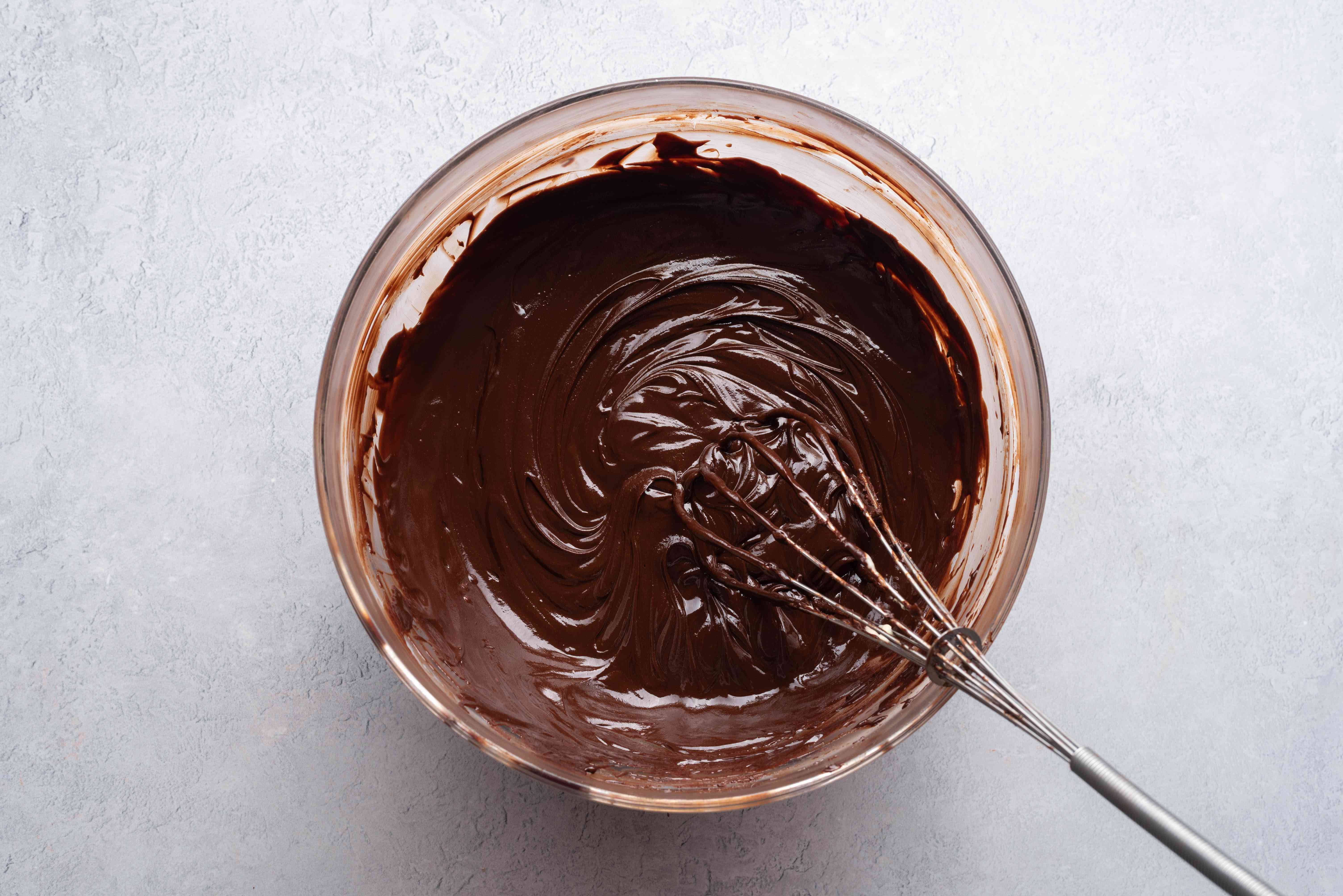 chocolate sauce in a bowl