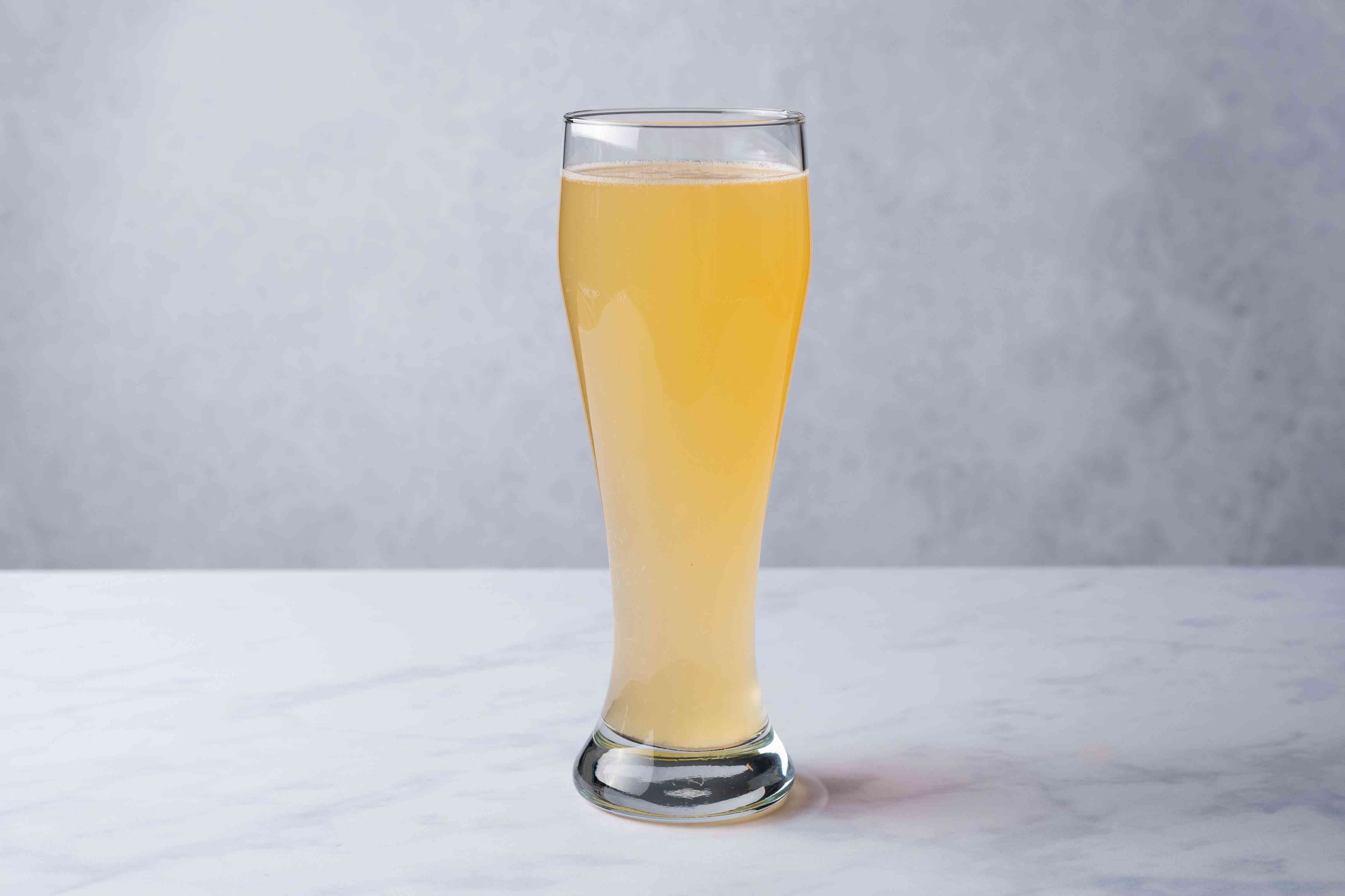 Fill the rest of the beer glass with lemonade
