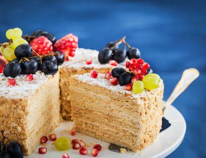 Delicious homemade honey torte