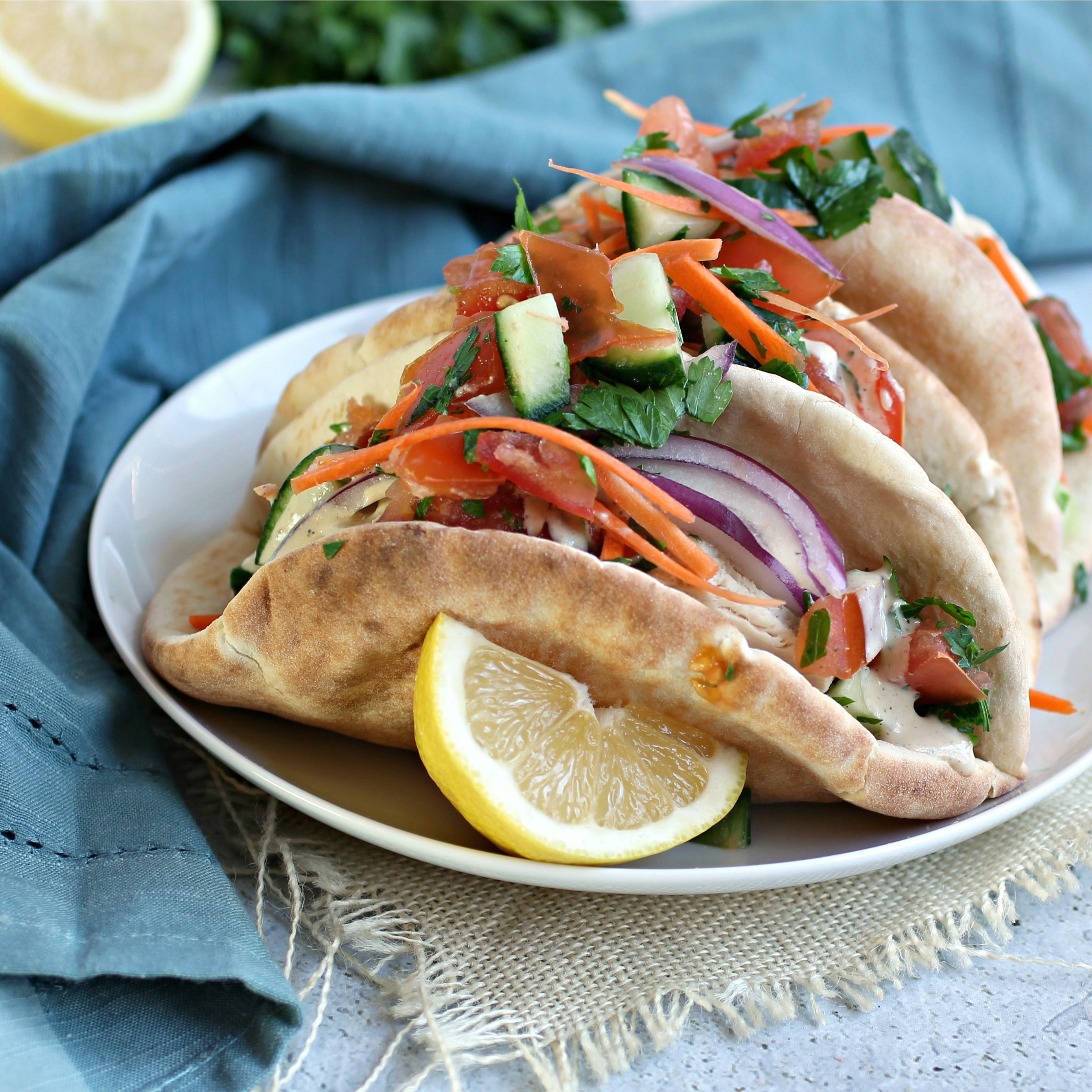 Middle Eastern Pita Tacos