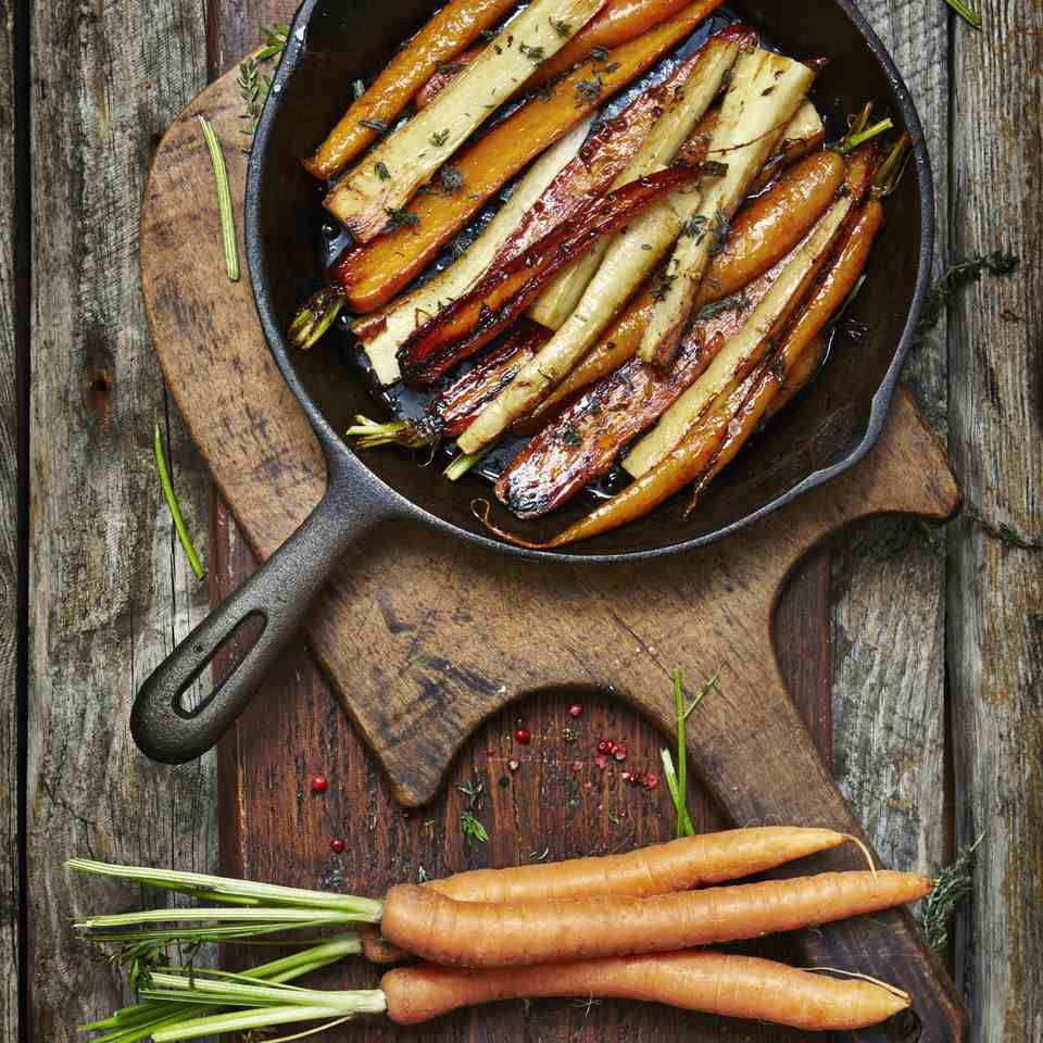 Roasted Carrots With Parsnips and Herbs