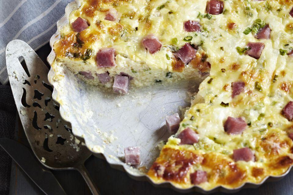 Ham and Swiss Cheese Quiche