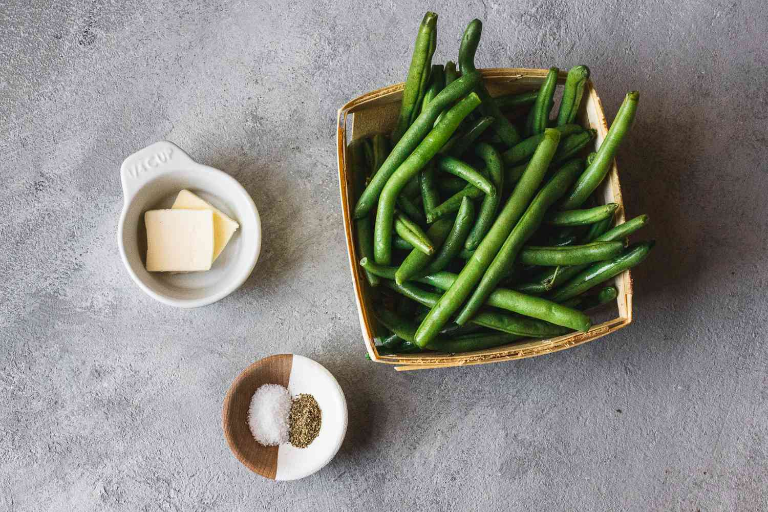 Ingredients for steamed green beans