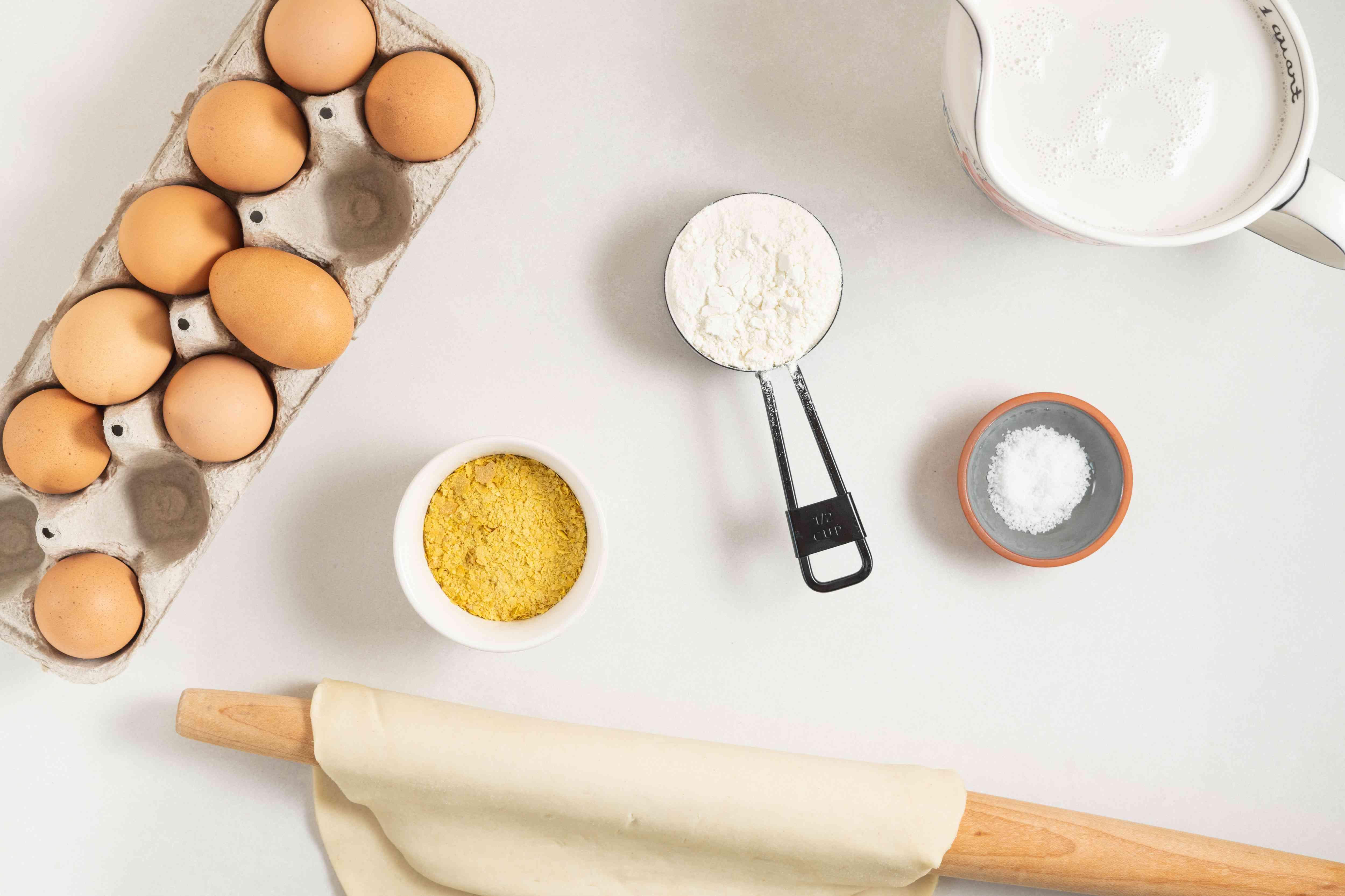 Dairy-Free Basic Quiche ingredients